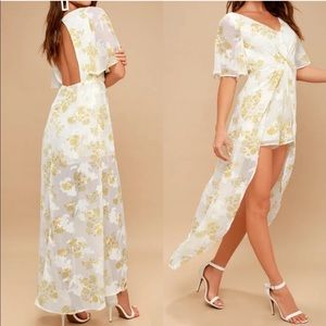 Nordstrom | Jumpsuit floral yellow dress